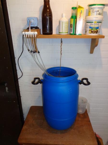 Kompost-Tee-Kessel