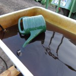 Kompost-Tee-mischen